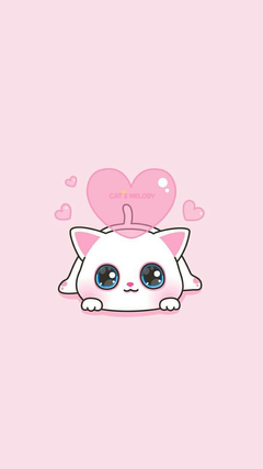 Cats Melody Pink Girly Cute Wallpapers