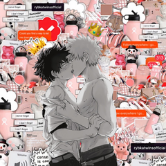 Bakugo and Deku kissing
