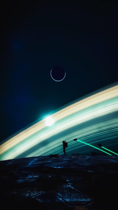 A Silhouette In Space