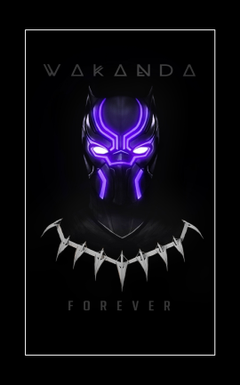 Black Panther Wakanda Forever glow Wallpaper for Mobile