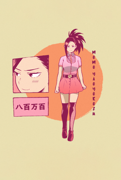 I did another aesthetic edit this time it s Momo Yaoyorozu 3 BokuNoHeroAcademia