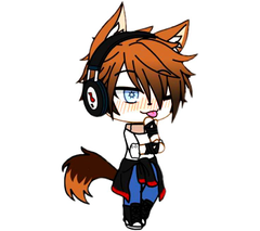 me new anime desain for anime boy wolf