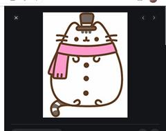 Snowman Pusheen