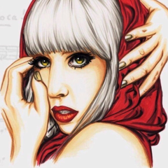 Lady Gaga Poker Face Drawing
