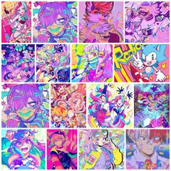 UwU anime and furry KidCore collage
