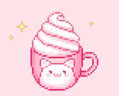 Cat mug w Whipped Cream