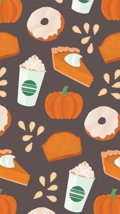 Fall Starbucks pumpkin spice iPhone backgrounds wallpapers