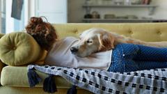 dog on girl