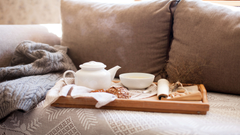 tea and modern chair