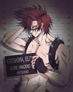 alright so this for dekuthecutenerd i think cuz i think you requested it but here is kirishima as a villain