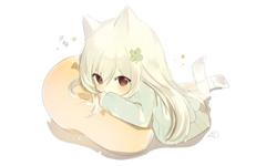Anime Girl Chibi Cute Animal Ears Pillow