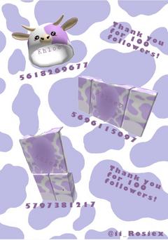 Aesthetic Purple Cow Roblox Codes