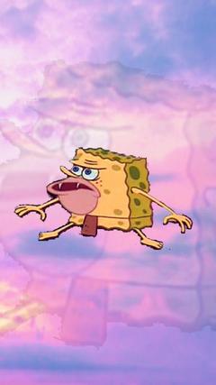 caveman spongebob aesthetic