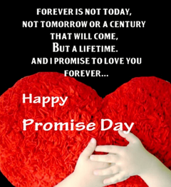 Beautiful Promise Day Wallpapers Greetings and Wishes cards