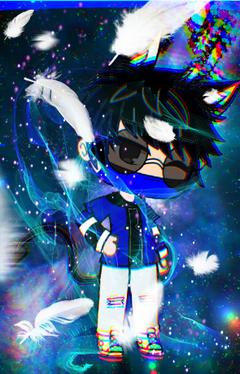 bluey galaxy gacha boy