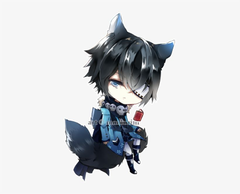 neko wolf he IS MINE MY PET