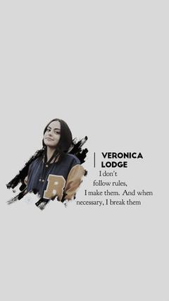Veronica Lodge lockscreen made by unlockscreen on Twitter