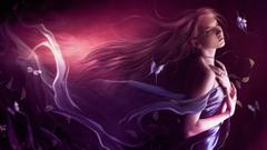 Beautiful purple haired elf