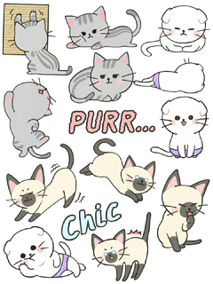 Kitty Cat Stickers Printables