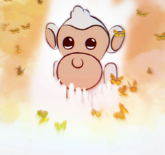 Albino monkey from adopt me