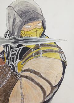 Scorpion Pencil Art