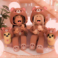 this sisters dressed like bears and their puppies dressed like the bear too