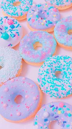 pastel donuts desktop wallpaper