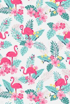 tropical flamingos mobile wallpaper