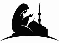 Muslim girl prayer