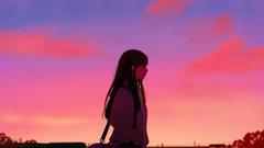 Anime Girl Listening to Music