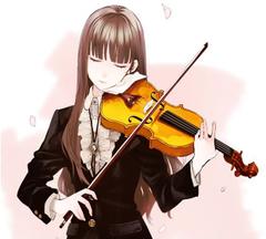 Anime Girl With Violin