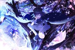 Kokichi ouma cherry blossoms wallpaper hd