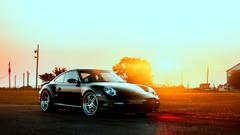 Porsche In The Sun