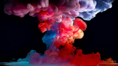 This is a multi coloured smoke bomb