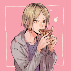 Kenma Kozume eating pie