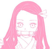 Pink Nezuko aethestic