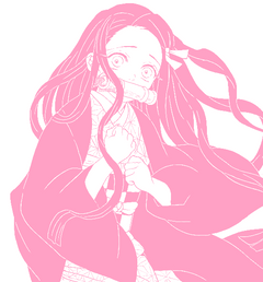Nezuko pink aethestic UwU