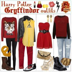 gryffindor inspired casual outfits