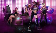 Ahri Akali Evelynn And Kaisa League Of Legends Girls HD