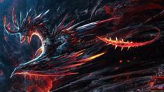 Spikey Fire Destruction Dragon