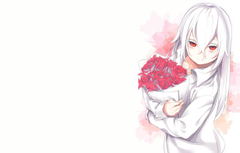 Photo Wallpapers Roses Bouquet Anime Art Guy Albino