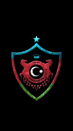 K HD Qaraba FK A dam loqo divar ka z Qarabag FK Agdam logo wallpaper