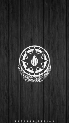 K HD Az rbaycan Gerbi divar ka z National Emblem of Azerbaijan wallpaper