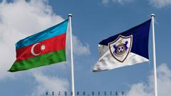 K HD Az rbaycan v Qaraba FK A dam bayraqlar Azerbaijan and Karabakh FC Agdam Flags