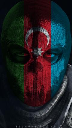 K HD Ghost Mask Call of Duty Azerbaijan Flag wallpaper