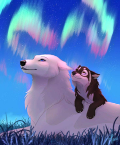Winter and her pup Fern
