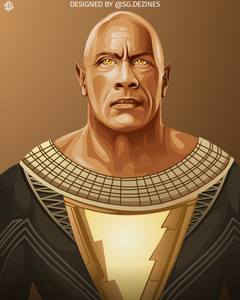 The Rock black adam dc comic