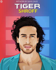 Tiger shroff wallpaper tiger shroff tiger shroff images Vector art by Sahil gaud