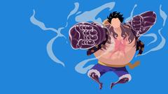 One piece Monkey D Luffy Gear 4th Bounce man