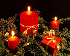 chrismas candles